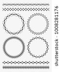 set of four decorative round... | Shutterstock .eps vector #1008281176