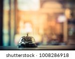 Stock photo bell call service vintage 1008286918