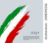 italy flag  abstract brush... | Shutterstock .eps vector #1008290236
