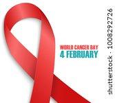 world cancer day  4 february... | Shutterstock .eps vector #1008292726