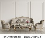 interior with classic furniture ... | Shutterstock . vector #1008298435