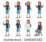 woman character with different ... | Shutterstock .eps vector #1008305182