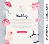 wedding concept banner with... | Shutterstock .eps vector #1008305296