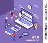 web development concept. ... | Shutterstock .eps vector #1008305452