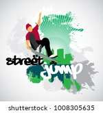 silhouette of skateboarder | Shutterstock .eps vector #1008305635