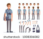 man photographer  character... | Shutterstock .eps vector #1008306082