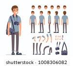man photographer  character... | Shutterstock .eps vector #1008306082