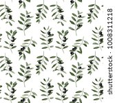 olive branch seamless pattern... | Shutterstock .eps vector #1008311218