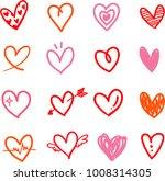 heart vector set   hand drawn   Shutterstock .eps vector #1008314305