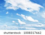white clouds in a blue sky  | Shutterstock . vector #1008317662