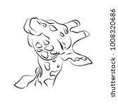 the head of a giraffe on a...   Shutterstock .eps vector #1008320686