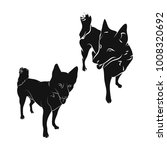 the silhouette of the dog on...   Shutterstock .eps vector #1008320692