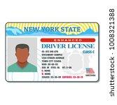 driving license for new york... | Shutterstock . vector #1008321388