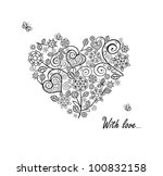 vintage heart shape   Shutterstock .eps vector #100832158