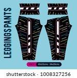 leggings pants fashion vector... | Shutterstock .eps vector #1008327256