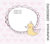cartoon baby invitation card ... | Shutterstock .eps vector #1008332452