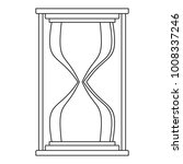 hourglass icon. outline... | Shutterstock . vector #1008337246