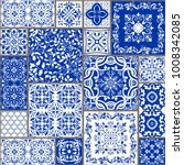seamless patchwork tile with... | Shutterstock .eps vector #1008342085