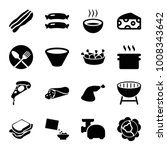 meal icons. set of 16 editable... | Shutterstock .eps vector #1008343642