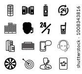 center icons. set of 16... | Shutterstock .eps vector #1008343816