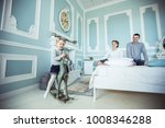 little girl swinging on a... | Shutterstock . vector #1008346288