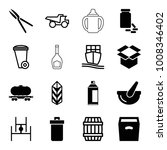 container icons. set of 16... | Shutterstock .eps vector #1008346402