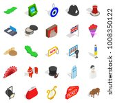 griffin icons set. isometric... | Shutterstock .eps vector #1008350122
