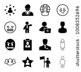 user icons. set of 16 editable... | Shutterstock .eps vector #1008352696