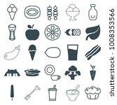 fresh icons. set of 25 editable ... | Shutterstock .eps vector #1008353566