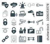 security icons. set of 25... | Shutterstock .eps vector #1008353578