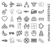 group icons. set of 36 editable ... | Shutterstock .eps vector #1008355462