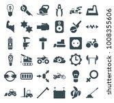 power icons. set of 36 editable ... | Shutterstock .eps vector #1008355606