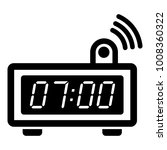 electronic alarm clock icon.... | Shutterstock .eps vector #1008360322