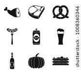 features food icons set. simple ... | Shutterstock .eps vector #1008360346