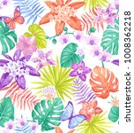 tropical seamless pattern with... | Shutterstock .eps vector #1008362218