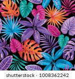 tropical seamless pattern with... | Shutterstock .eps vector #1008362242