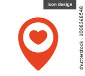 heart love geoposition icon   Shutterstock .eps vector #1008368548