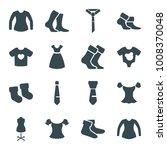 garment icons. set of 16...   Shutterstock .eps vector #1008370048