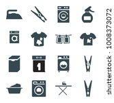 laundry icons. set of 16... | Shutterstock .eps vector #1008373072