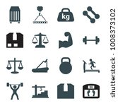 weight icons. set of 16... | Shutterstock .eps vector #1008373102
