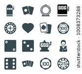 gamble icons. set of 16...   Shutterstock .eps vector #1008373288