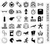 sport icons. set of 36 editable ... | Shutterstock .eps vector #1008373306