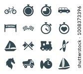 race icons. set of 16 editable... | Shutterstock .eps vector #1008373396