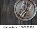 vintage metal flatware on the