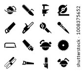 saw icons. set of 16 editable... | Shutterstock .eps vector #1008375652