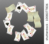 playing cards falling on... | Shutterstock .eps vector #1008377836