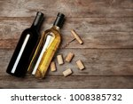 two bottles with red and white... | Shutterstock . vector #1008385732