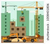 construction site with special... | Shutterstock .eps vector #1008401806