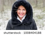 portrait of woman in warm... | Shutterstock . vector #1008404188