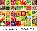 vegetables and fruits collage | Shutterstock . vector #1008411892